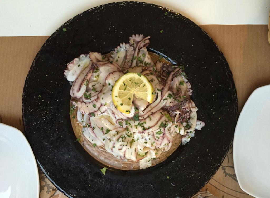Carpaccio z chobotnice